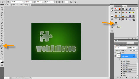texto con efecto cristal Agregar efecto de cristal a objetos en Photoshop