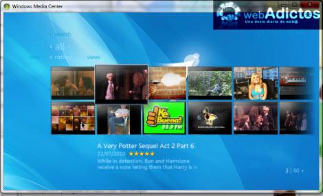 Ver videos de YouTube en Windows Media Center - videos-youtube-windows-media-center
