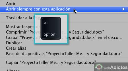 Abrir con otra aplicacion por omision 4 Cambiar la aplicacion que abre un archivo por omisión en Mac