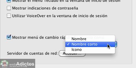 Mostrar usuario en la barra de menus Mac 6 Mostrar cambio rápido de usuario, o sea, tu nombre en la barra de menús