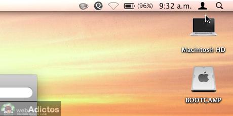 Mostrar usuario en la barra de menus Mac 9 Mostrar cambio rápido de usuario, o sea, tu nombre en la barra de menús
