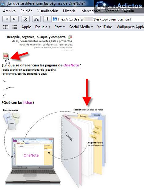Exportar tus notas de Evernote a formato HTML - abrir-nota-html