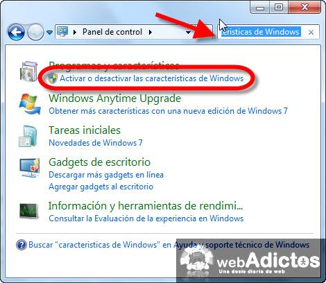 Desinstalar Windows Media Player 12 - activar-desactivar-caracteristicas-windows