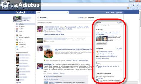 Retirar barra lateral de anuncios en Facebook - anuncios-facebook