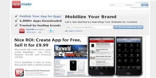 Crea una aplicación para iPhone gratis con Appmakr - appsmakr