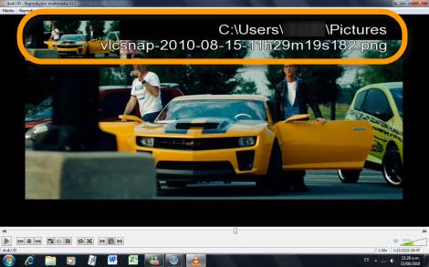 Tomar capturas de una película con VLC - captura-pelicula-vlc