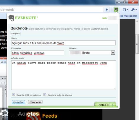 Recuerda todo lo que ves en internet con Evernote - capturar-notas-en-google-chrome