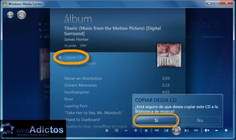 Copiar un CD desde Windows Media Center - copiar-discos-windows-media-center