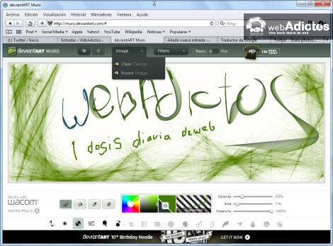 DeviantArt añade aplicación de dibujo web - deviantart-mura