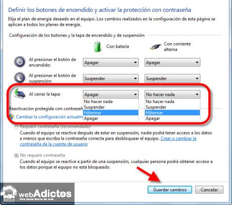 Cambiar el comportamiento de la tapa de una Laptop en Windows - elegir-comportamiento-tapa-laptop-windows