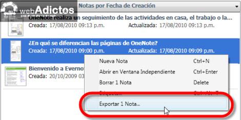 exportar nota html Exportar tus notas de Evernote a formato HTML