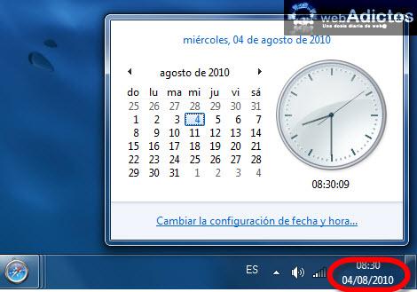 Cambiar el formato de la fecha en Windows 7 - fecha-windows-7