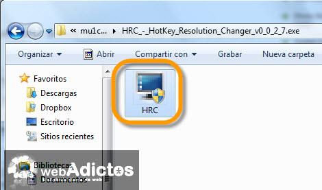 Cambiar la resolución de la pantalla con un atajo - hotckeys-resolution-changer