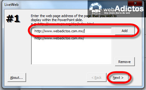 Agregar páginas de internet en Power Point - insertar-direccion-web