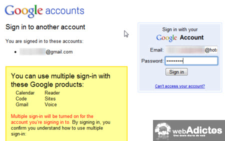 multiples cuentas correo gmail Accesar a multiples cuentas de Gmail