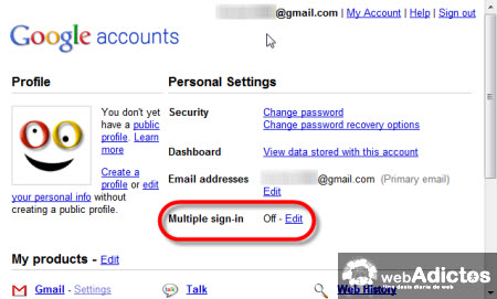 multiples cuentas gmail Accesar a multiples cuentas de Gmail