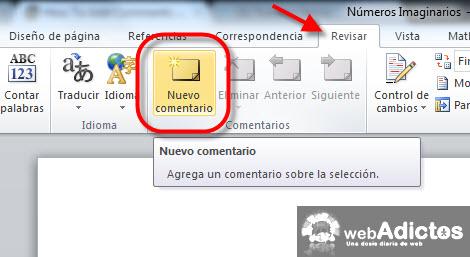 Insertar comentarios en Word 2010 - nnuevo-comentario-word-2010