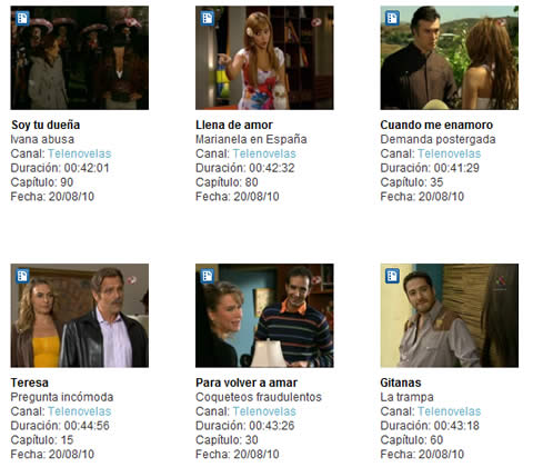 Novelas televisa y Tv Azteca online - novelas-televisa