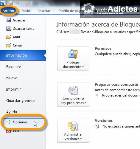 Deshabilitar la minibarra de herramientas en Office 2010 - opciones-office-2010