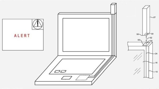 Apple patenta el diseño de una computadora con antena 4G - patente_portatil_antena