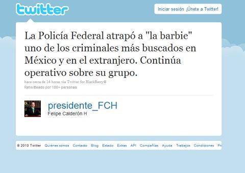 "Presidente twittea captura de ""La Barbie"" - presidente-la-barbie-twitter"