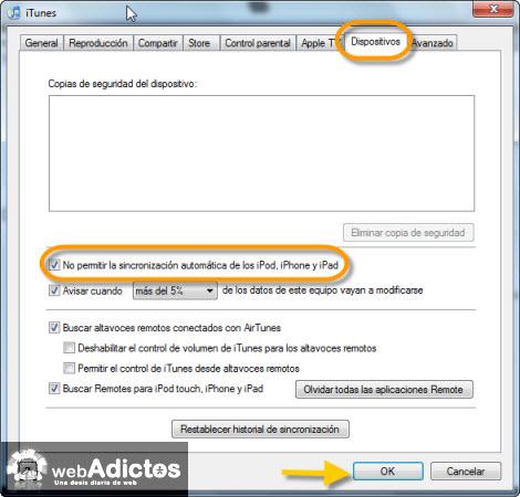 Carga tu iPod sin abrir iTunes - prohibir-sincronizacion-automatica