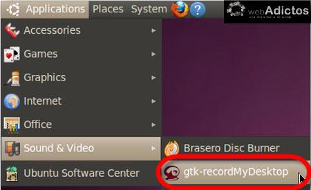 Graba la actividad de tu escritorio en Ubuntu - recordmydesktop-ubuntu