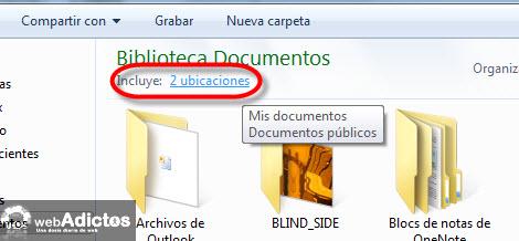 Cambiar la carpeta de guardado por defecto en Windows 7 - ubicacion-de-guardado