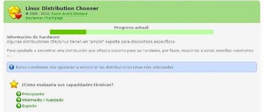 Test para saber que distribución de Linux utilizar - Linux-distribution-chooser