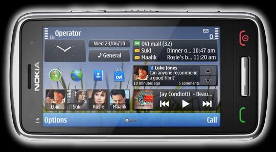 Nokia C6 1 Nokia E7, Nokia C6 y Nokia C7