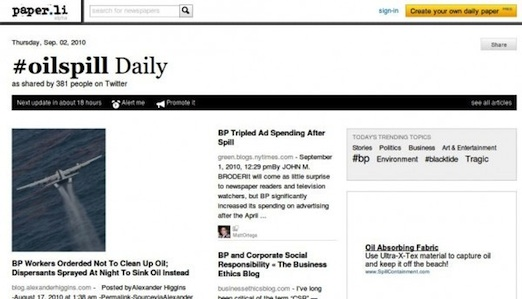 Lee Twitter como un periódico con Paper.li - Paper.li_