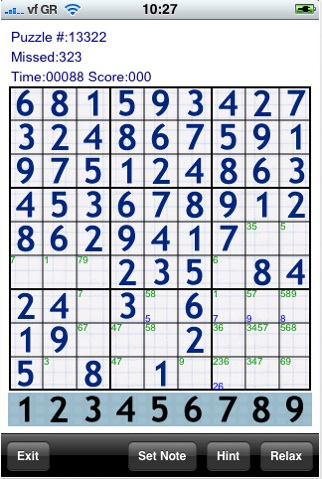 Juegos iPod/iPhone, Sudoku 20k - Sudoku-20k