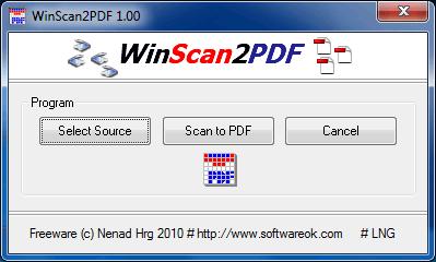 escanear a pdf Escanear documentos a PDF, WinScan2PDF