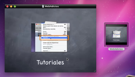 Crear un video a partir de una presentación en Keynote - keynote-en-quicktime