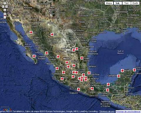 Ayudemos a Veracruz por el paso del Huracán Karl - mapa-cruz-roja-mexico