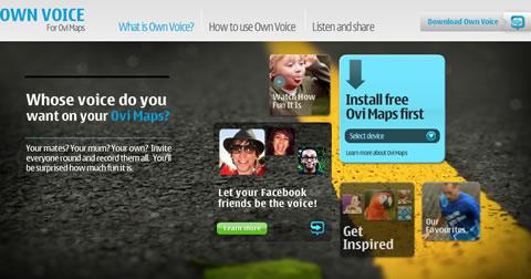 Tu voz en los mapas de Nokia, Own Voice - own-voice-nokia