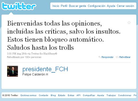 Presidente Calderón te bloquearía en Twitter - presidente-calderon-twitter-bloquear