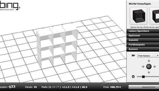 Diseña muebles con un cubo en 3D con Qubing - qubing