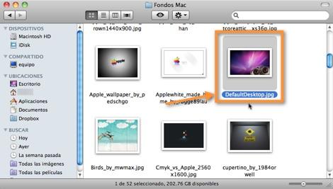 Cambiar el fondo de inicio de sesión en Mac OS X - renombrar-imagen-fondo