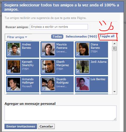Ya no selecciones de uno en uno: Facebook + Chrome - allFB