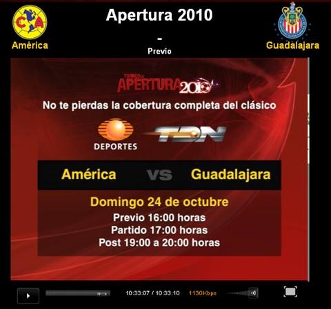 America vs Chivas en vivo, Apertura 2010 - america-chivas-en-vivo-apertura-2010