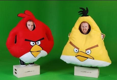 Divertidos disfraces de Angry Birds - angry-birds-disfraz