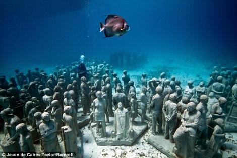 Exposición de estatuas subacuáticas en Cancún - exposicion-acuatica-cancun