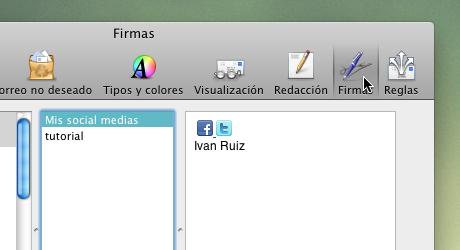 firma mail 2 Hacer firma de correo en Mail para Mac