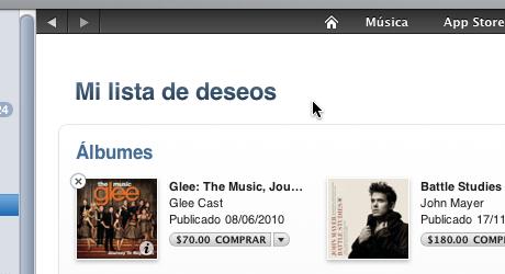 hacer lista deseos itunes 9 Hacer lista de deseos en iTunes Store