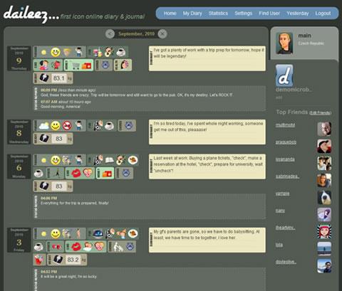 Crea tu microblog y expresate con iconos en Daileez.com - microblog