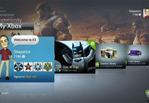 Novedades en el Dashboard del Xbox 360