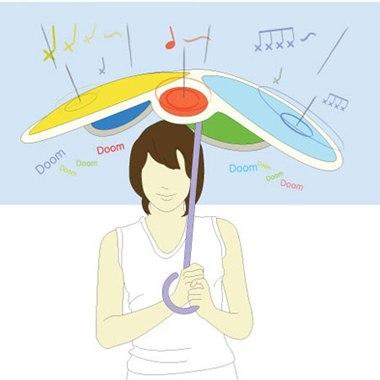 Rain Drum, el paraguas musical - paraguas-musical