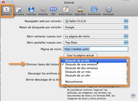 Como borrar el historial de navegación de Safari - programar-borrar-historial-safari