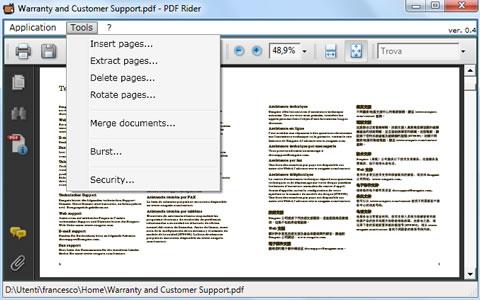 Unir PDFs y más con PDF Rider - separar-pdf-pdf-rider